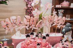 Bolachas decoradas tema Kokeshi | Festa infantil | Decoração by Mariah festas