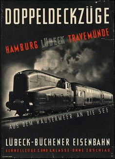 Vintage German travel poster.