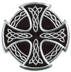 $2.98 - Celtic Cross Irish Goth Tattoo Druids Wicca Pagan Applique Iron-On Patch S-5 #ebay #Home & Garden