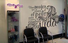 Un texto pensado especialmente para peluquerías o centros de estética. Descubre más vinilos para peluquerías en nuestra web
