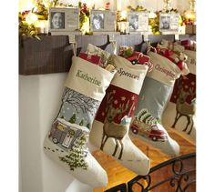Crewl Embroidered Stocking