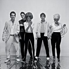 The B-52s circa 1979, shot by George DuBose 'I had the idea to produce a 16x20in [40x50cm] poster in black and white to snipe around the clubs, where the band would be playing. I didn't know about wheat paste, and after I had stapled posters around the block where Max's Kansas City was and got back the point where I started, all the posters were gone. After that I began selling the posters for 52 cents or two for a dollar.' Photograph: Outside the Lines