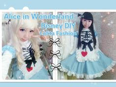 Disney Costume DIY- How to Make Alice in Wonderland Dress/Costume - Lolita Fashion - YouTube