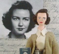 Flannery O' Conner Doll Miniature Literary Art Collectible Author