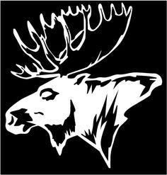 Moose head stencil
