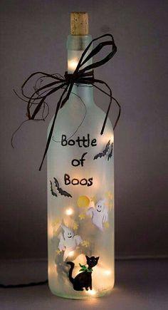 Halloween Bottle Craft