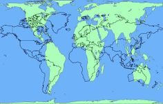 Area accurate Peters Projection Map overlaid with common Mercator Projection Map.  The challenge of any world map is to represent a round earth on a flat surface. The Peters Projection World Map is one of the most stimulating, and controversial, images of the world. When this map was first introduced by historian and cartographer Dr. Arno Peters at a Press Conference in Germany in 1974, it generated a firestorm of debate.
