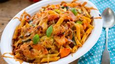 vegetable tuna pasta bake