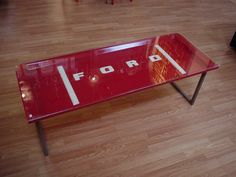 ford tailgate coffee table or bench - tribe.net