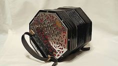 Wheatstone Bb/F 40 Button Anglo Concertina - http://musical-instruments.goshoppins.com/accordion-concertina/wheatstone-bbf-40-button-anglo-concertina/