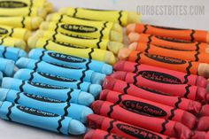 WOW! Edible Crayons! How cute for a school party or a birthday party!