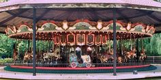 The Lake Winnepesaukah Carousel PTC #39 1916 Lake Winnepesaukah, Rossvile, Georgia. It has 4 Rows, 64 Jumping Horses, 2 Standing Horses, 2 chariots... This carousel is a beauty!