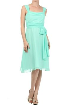 COWL NECK BRIDESMAID DRESS WITH STRAPS