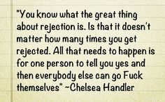 One of the many reasons I love Chelsea!  So wise!!!!