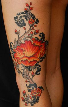 Tattoo work by Acacia Jones.