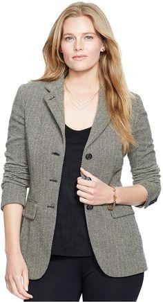 Lauren Ralph Lauren Plus Size Button-Front Blazer