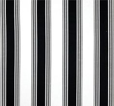 classic black white stripe home decor fabric by the yard designer cotton drapery or upholstery - Home Decor Fabrics By The Yard