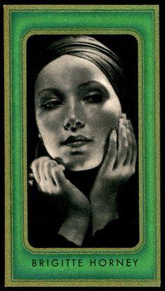 Brigitte HORNEY [] Notable films~ Das Erbe der Guldenburgs The Adventures of Baron Munchausen Freed Hands / Cigarette Card Film Pictures, Collector Cards, Vintage Clip, Baron, German, Films, Cinema, Hands, Album