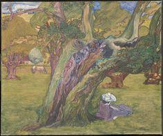 Oude eiken te Surrey, 1891. Jan Toorop