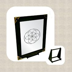 Seed of Life Engraved Mirror Seed Of Life, Wall Hanger, Adhesive, Seeds, Mirror, Gifts, Stuff To Buy, Presents, Mirrors
