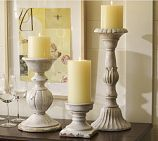 Love large chunky decorative pieces; especially candlesticks...
