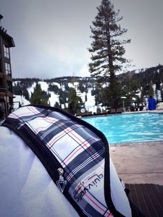 Quivvers in Tahoe, a well deserved pool break after a great ski day! #SpringBreakGear