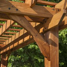 The pergola kits are the easiest and quickest way to build a garden pergola. There are lots of do it yourself pergola kits available to you so that anyone could easily put them together to construct a new structure at their backyard. Cedar Pergola, Deck With Pergola, Outdoor Pergola, Backyard Pergola, Patio Roof, Pergola Plans, Backyard Landscaping, Pergola Ideas, Backyard Ideas