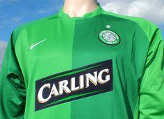 celtic goalkeeper 2006-2007 player issue away shirt
