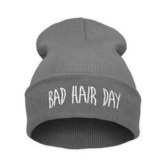 Bad hair day print teen winter unisex hat MyFriendShop ($8.99) ❤ liked on Polyvore featuring accessories, hats, scarves, winter, print hats and pattern hats