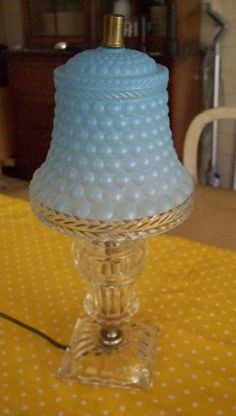 Hey, I found this really awesome Etsy listing at https://www.etsy.com/listing/166258335/vintage-lighting-crystal-glass-lamp-blue