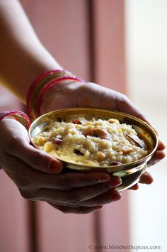 Jaggery Pongali - A delicious South Indian festive dessert - #recipes #cooking #food #sweet - blendwithspices.com