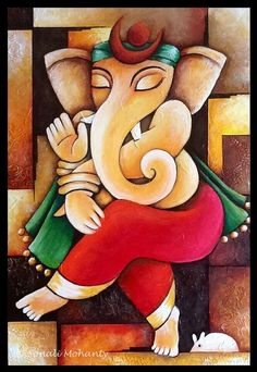 Ganesha Painting for print - - Ganesha Drawing, Lord Ganesha Paintings, Ganesha Art, Krishna Painting, Krishna Art, Baby Ganesha, Ganesha Tattoo, Shri Ganesh, Durga