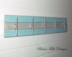 Boat Cleat Rack / Towel Rack / Nautical Coat Rack / Nautical Nursery Decor/ Nautical Bathroom Decor / Lake House Decor / Beach  Decor / Pool