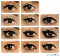11 different eye liner techniques.
