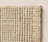 for the dining room Chunky Wool & Boucle-Woven Jute Rug Swatch, Natural