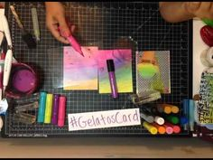Make you own mixed media journal cards using Gelatos® and Stamper's Big Brush Pens - YouTube