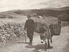 Carrying turf at Donegal