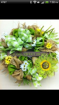 Love this spring wreath for St. Patrick's day or spring!