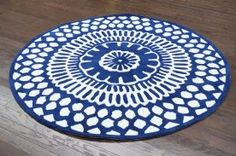 $5 Off when you share! Keno Lanty Blue Rug | Contemporary Rugs #RugsUSA