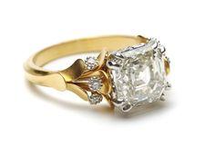 Asscher cut diamond Flora Ring #weddings #engagementrings