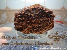 Bolo de Chocolate com Cobertura de Chocolate na Bimby - Receitas Bimby