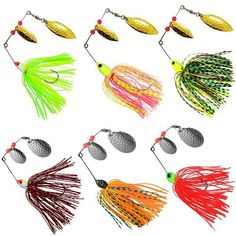 Fishing Lure Spoon Bait ideal for Bass Trout Perch pike rotating Fishing PipNIC