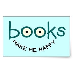 Books Make Me Happy Sticker