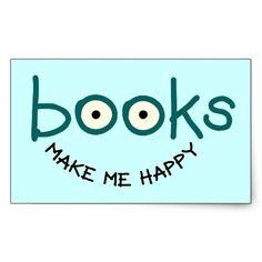 Books Make Me Happy Sticker