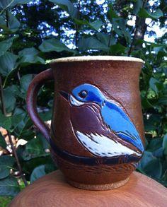Bluebird mug. Annie Lauterbach