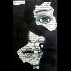 Altered-Book Poetry: These poems are common in altered-book journals (see here). It is often easier for people to take inspiration from the text on the. Book Art, Book Page Art, Art Journal Inspiration, Art Inspo, Art Sketches, Art Drawings, Arte Black, Found Poetry, Poesia Visual