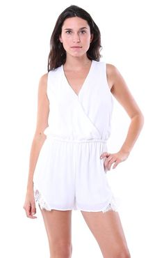 Cupcakes and Cashmere Rompers Irina Romper in White