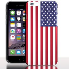 "Coque iPhone 7 Drapeau Etats Unis ( silicone - Rigide - 4.7 "")"
