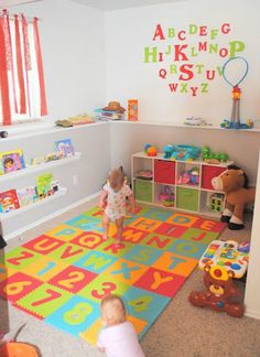Exciting and Creative Kid's Playroom Ideas – Voyage Afield Kids Playroom Storage, Toddler Room Organization, Small Playroom, Toddler Playroom, Playroom Design, Toddler Rooms, Playroom Decor, Kids Decor, Toddler Play Area