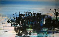 George Heidweiller - Down Town 3  Excellent Art Holland  160 x 100 cm. Prijs € 2600.-